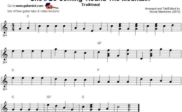 Easy Sheet Music For Guitar