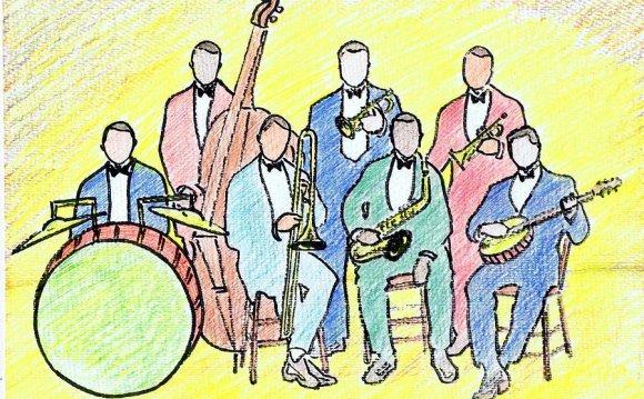 Nostalgia Drawing - 1920s Jazz