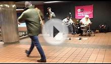 3-piece Jazz band at Grand Central Terminal, NYC - 3.24.15